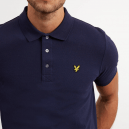 Plain Polo Shirt Blu